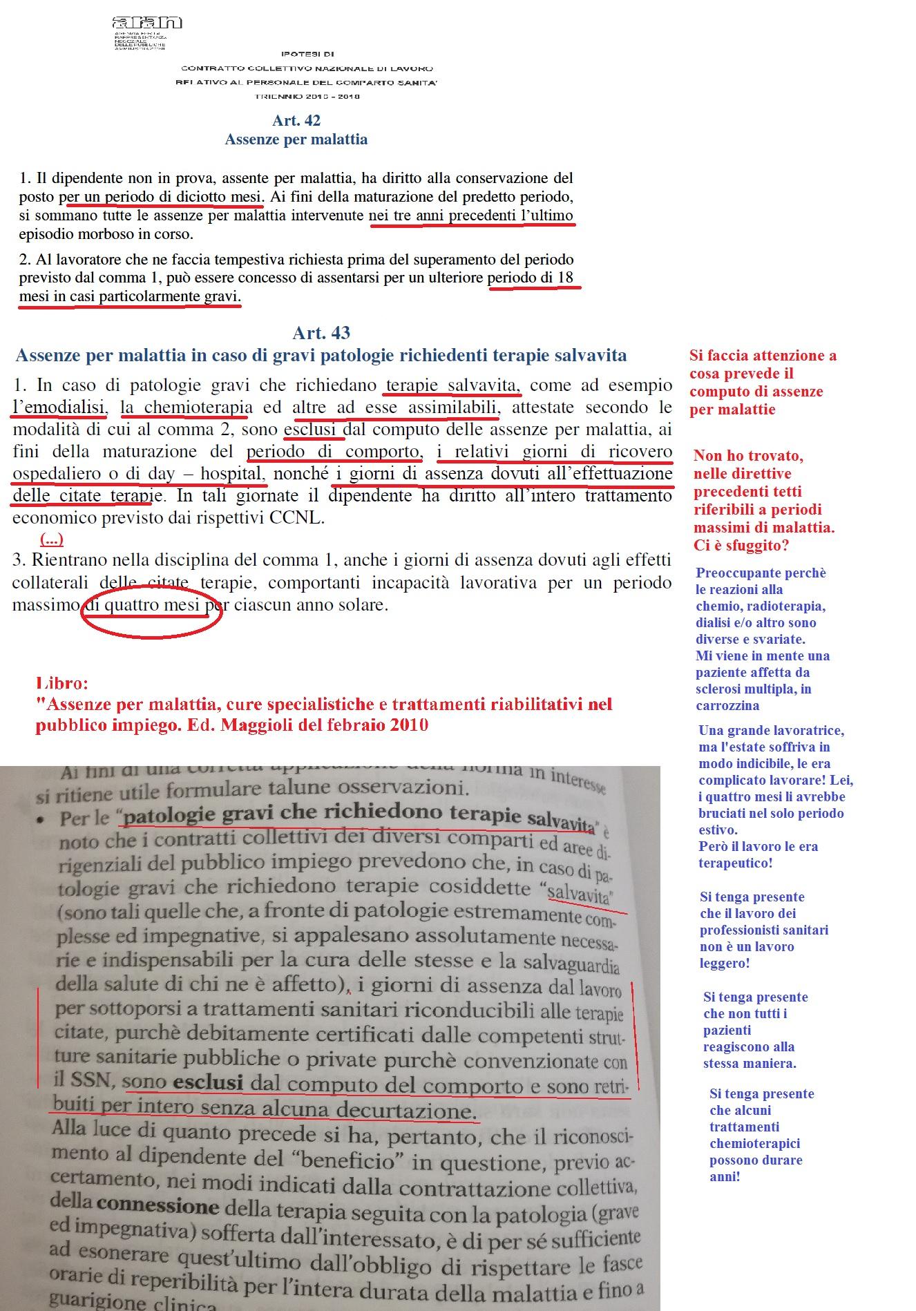 Art 43 Assenze Per Malattia In Caso Di Gravi Patologie Richiedenti Terapie Salvavita